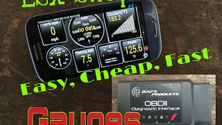 LSx Swap Gauges Simple, Easy, Cheap & Code Reader OBDII -Check Engine Light DTC Bluetooth OBD2