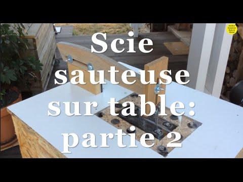 scie sauteuse sur table partie 2 youtube. Black Bedroom Furniture Sets. Home Design Ideas