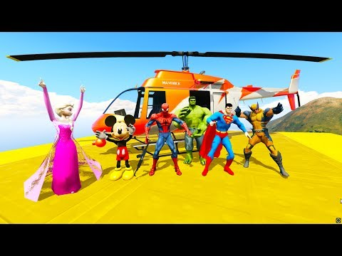 Thumbnail: FUN LEARN COLORS HELICOPTER w/ SUPERHEROES Animation for Children and Disney Nursery Rhymes