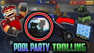 Trolling Players In Pixel Gun 3D Pool Party [HILARIOUS!]