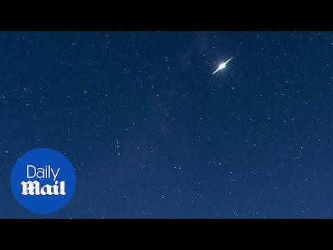 Meteor explodes in the Shropshire sky just above Clun Castle