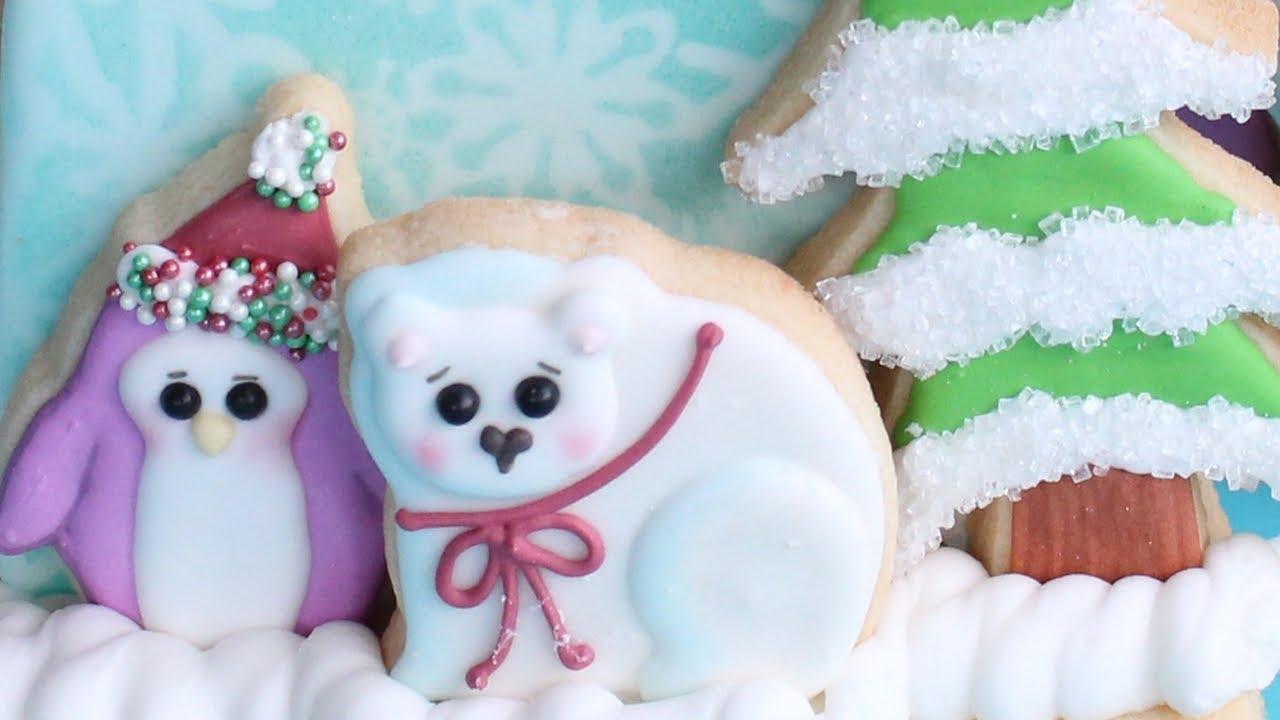 Christmas Cookies 3d Arctic Cookie Scene Best Instrumental Cookie Decorating Compilation