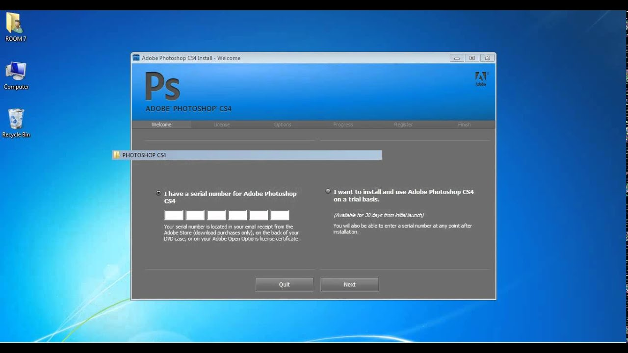 serial number adobe photoshop cs4 64 bit