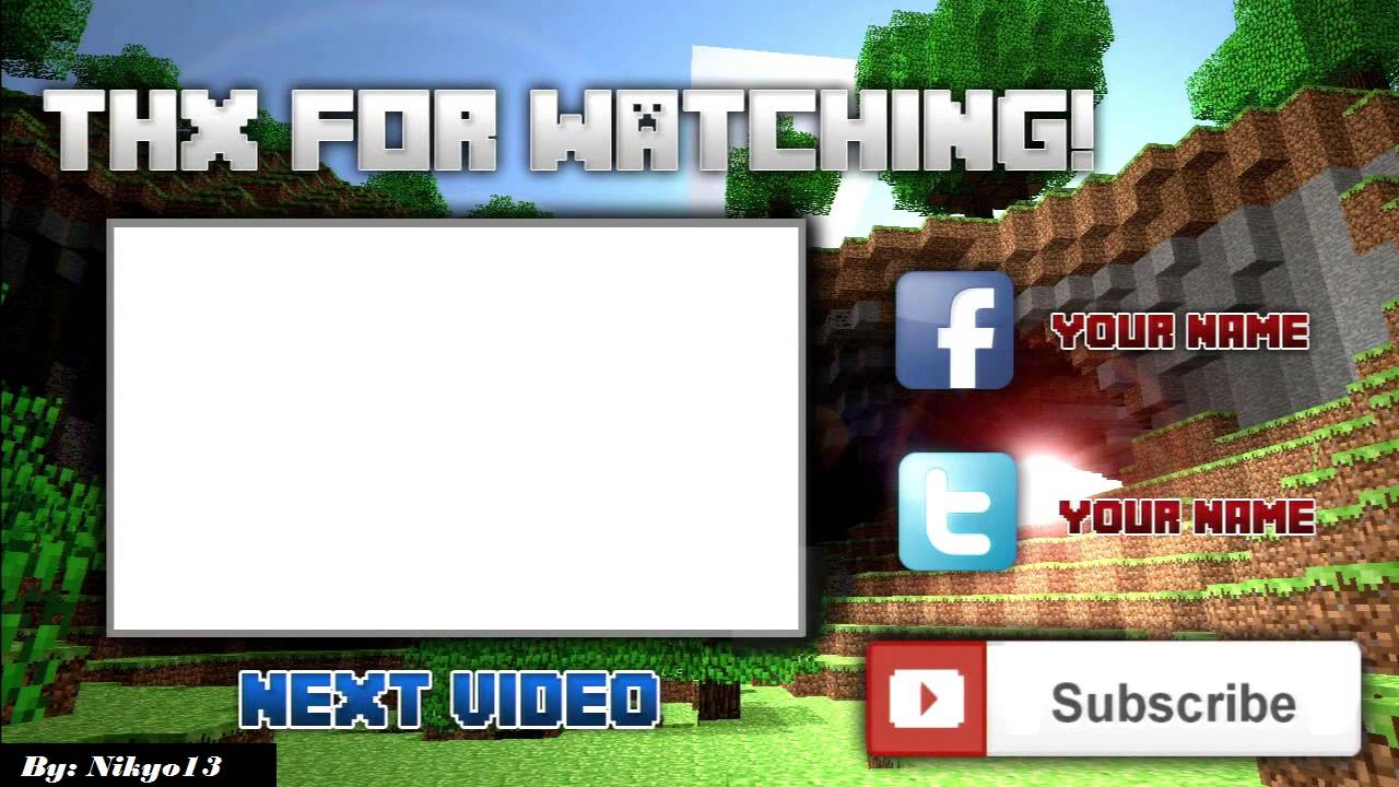 Camtasia 8 studio gaming outro template for minecraft 1 for Minecraft outro template movie maker