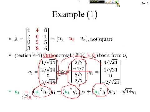 許志華線性代數6-4 QR 分解- YouTube