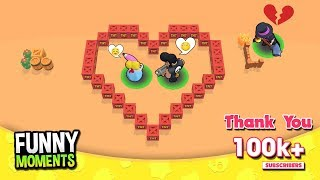 Love Story BULL, PIPER & MORTIS 💔 Brawl Stars Funny Moments 2019   Thank You 100k+ Subscribers !!!