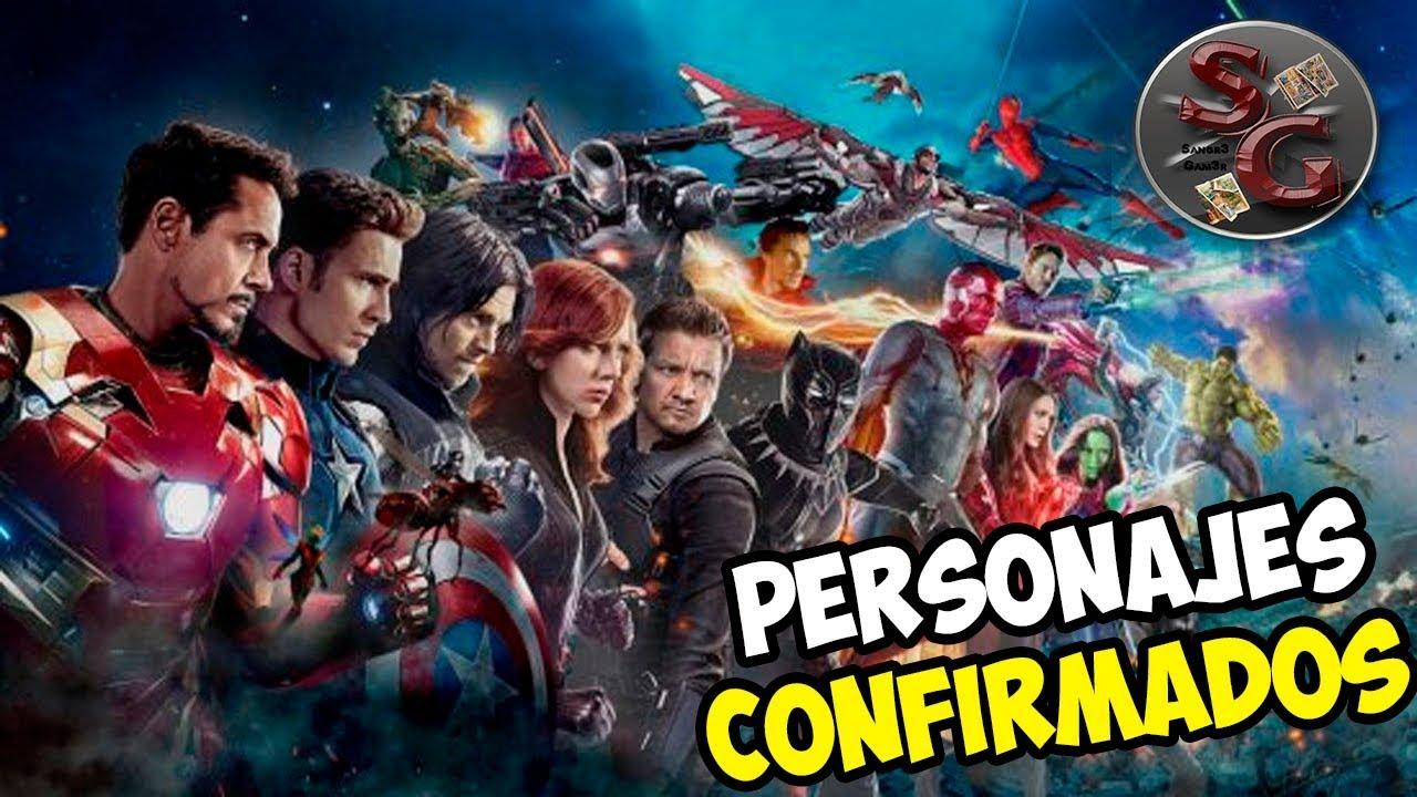 Capitan Marvel Y Los Falsos Vengadores Todo Lo Que: TODOS Los PERSONAJES CONFIRMADOS Para AVENGERS 4