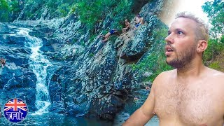 DANGEROUS CLIFF JUMPING!  (+CLIMBING CASTLES ILLEGALLY!)