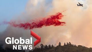 California wildfires: Aerial footage shows destructive path of new Glass fire in Napa County