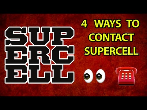 HOW TO CONTACT SUPERCELL | 4 METHODS