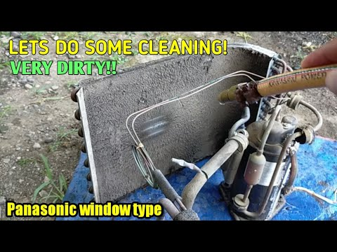 How to clean your own aircon (Panasonic window type)