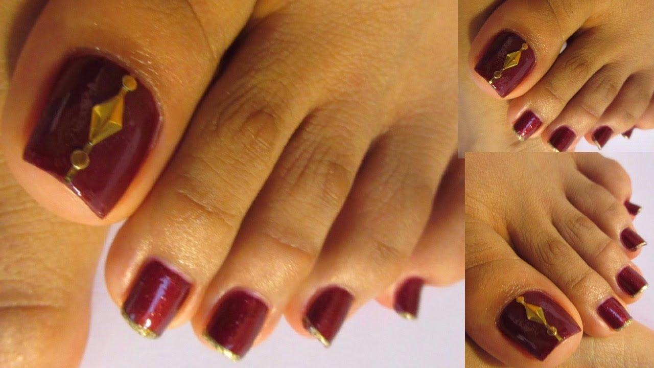 Pedicure Facil Y Bonito Color Vino Regalo Sorpresaeasy And Cute