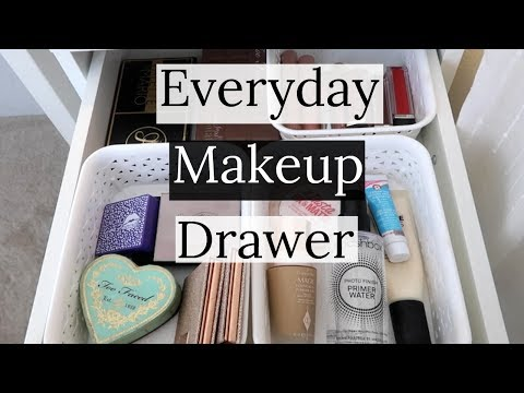 Everyday Makeup Drawer February 2018