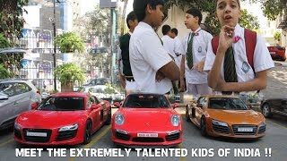 REACTIONS  Kids Jump on the road after seeing Supercars | #101