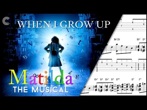 Guitar  - When I Grow Up - Matilda the Musical - Sheet Music, Chords, & Vocals