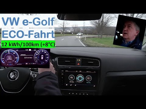 VW e-Golf 300: ECO-Fahrt bei 8°C   Strominator