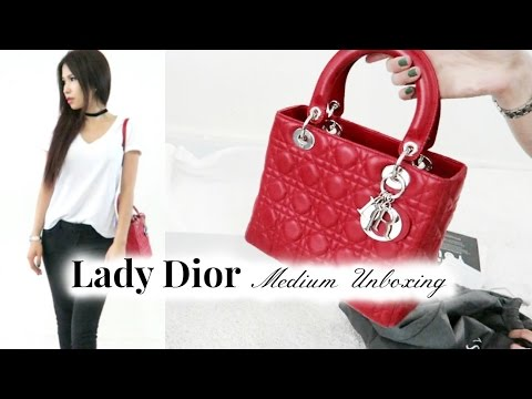 8c97c02c74 Lady Dior Medium Unboxing - YouTube