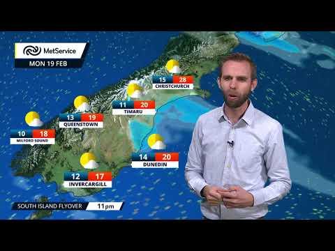 Tala Ole Tau NZ Weather Forecast Mon19Feb18 [NZMetService]