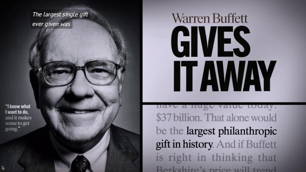 Image result for warren buffett philanthropist