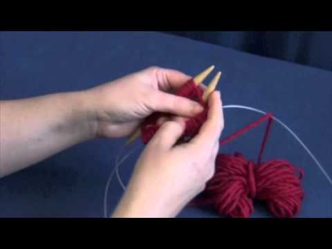 Knitting In The Round On Two Circular Needles Youtube