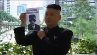 Kim Jong Un Look Alike Leads Anti-North Korea Protest In Hong Kong