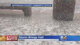 Storm Brings Hail Across Denver Metro Area