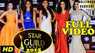 Star Guild Awards 2015 | Priyanka Chopra, Alia Bhatt, Jacqueline, Deepika - Red Carpet Full Show