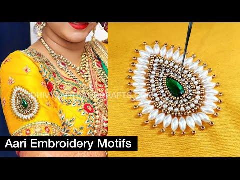 beautiful aari work for beginners   aari work blouse designs   aari beads work   #257 video download