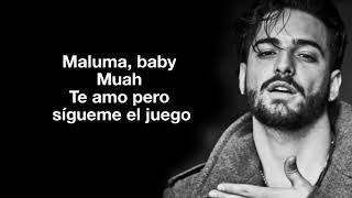 Maluma - Ojos Que No Ven (LETRA/LYRIC)