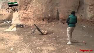 Новости Сирии Сегодня! Боевики используют миномет в Алеппо Война в Сирии
