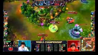 BO5 Game 4 - World Championship Finals - AZF vs TPA - Original Commentary - LoL League of Legends