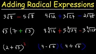 Adding and Subtracting Radİcal Expressions With Square Roots and Cube Roots