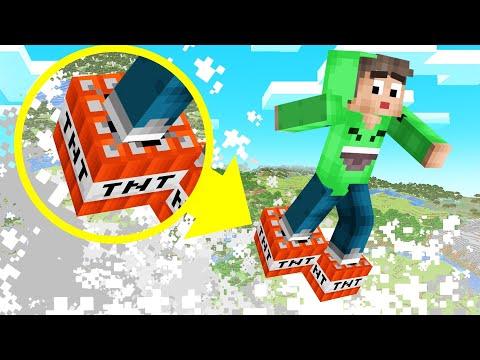 MINECRAFT But JUMP = TNT EXPLOSION! (Dangerous)
