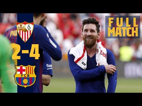 FULL MATCH: Sevilla – Barça (2019) Messi scores 50th hat-trick in six-goal thriller!