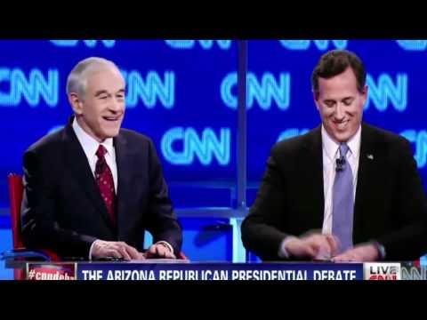 Ron Paul, Romney Crush Santorum At GOP Debate