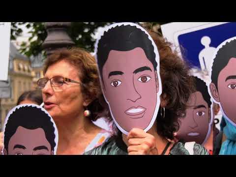 """Rassemblement contre le projet de loi """"asile et immigration"""" (19 juin 2018, Sénat, Paris)"""