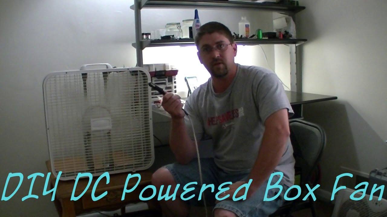 Diy Dc Powered Box Fan Conversion Youtube