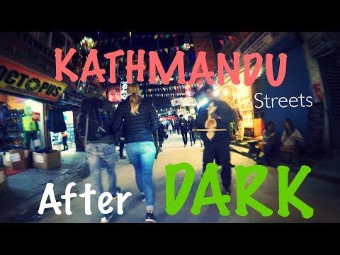 KATHMANDU CITY STREETS AND SOUNDS AFTER DARK | An Evening Cycling Vlog