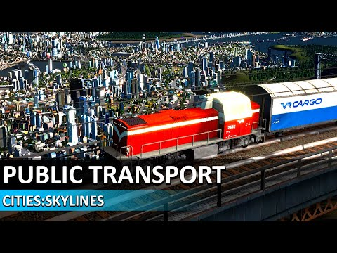 Cities Skylines Tutorial #4 - Traffic Management (Buses, Metro...) - Cities Skylines Beginners Guide
