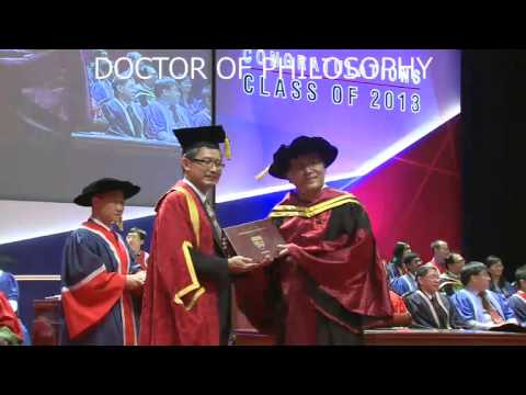 PhD Convocation Video of SPMS, Nanyang Technological University, July 2013