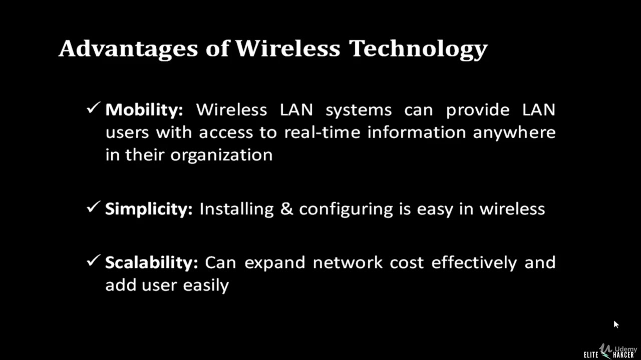 what are the advantages of wireless network