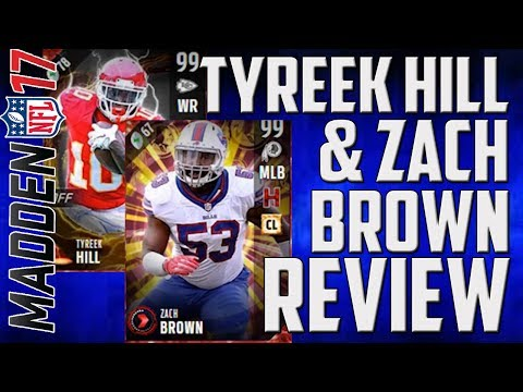 Tyreek Hill and Zach Brown Dual Review - MUT 17