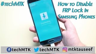 How to disable Samsung Phones FRP lock
