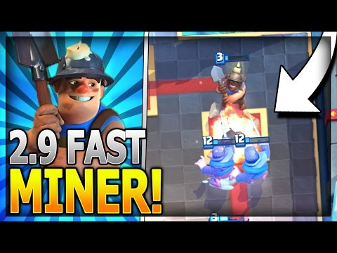 SUPER FAST CYCLE MINER CONTROL DECK!! NEW PERSONAL BEST - Legendary Arena 11 in Clash Royale