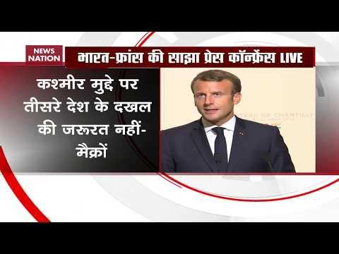 India, Pak should resolve Kashmir bilaterally, says Emmanuel Macron