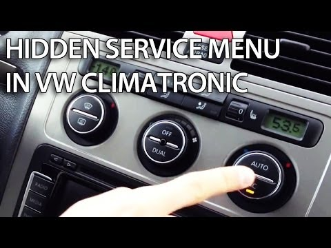 How to access hidden service menu in VW Climatronic (Golf