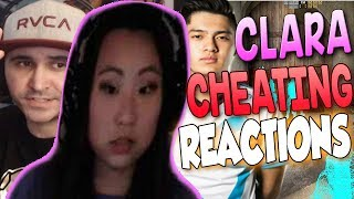 "Everyone Reacts to "" Girl Caught Cheating on Stream"" CLARA Ft Summit1g fREAKAZOiD & More CS GO"