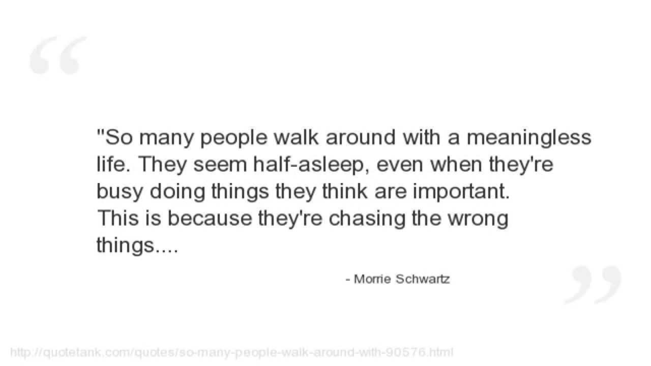 Tuesday With Morrie Quotes Morrie Schwartz Quotes  Youtube