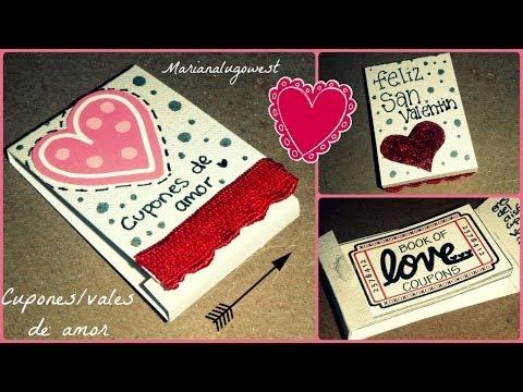 cupones/vales de amor -tutotial [SAN VALENTIN]