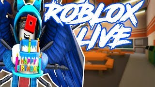 🔴ROBLOX LIVE! Family Friendly | VIP SERVER JAILBREAK GRIND WITH GGPARMY!!! | Happy Birthday Roblox!